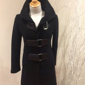 Ladies wool and leather Sicily coat size S
